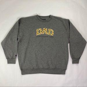 "Men's UCF ""DAD"" Gray Sweatshirt by Jansport NWT"